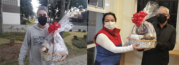 Clientes recebem cestas de coquetel em casa, como Rual Junior e Mirlei Marconi